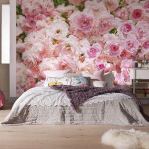 Фотообои, розовые розы