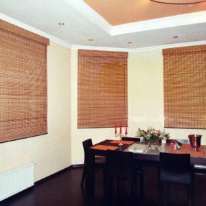 Бамбуковые шторы, не прозрачные