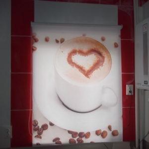 Фотожалюзи, с рисунком чашки с кофе