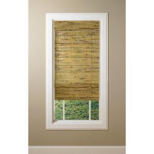 Бамбуковые шторы, не прозрачные, бежево-зеленые