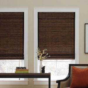бамбуковые шторы, шоколадный цвет, не прозрачные