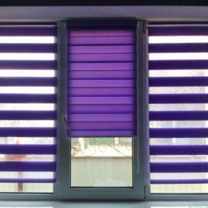 Жалюзи день — ночь, фиолетовые