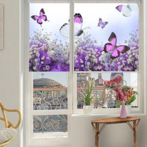 Фотожалюзи с рисунком бабочек