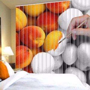 Фотожалюзи с рисунком окрашиваемых персиков