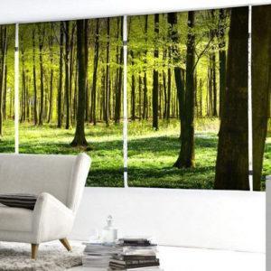 Фотожалюзи с рисунком леса